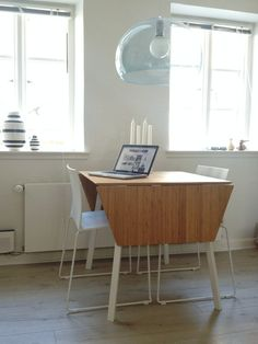 table from ikea, lamp is fl/y from kartell