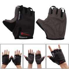 Cycling Gloves Shock-absorbing Foam Pad Breathable Half Finger Bike Bicycle M/L #Unbranded #HalfFingerFingerless