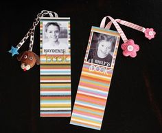 bookmarks - cute idea. We sure have enough pictures!