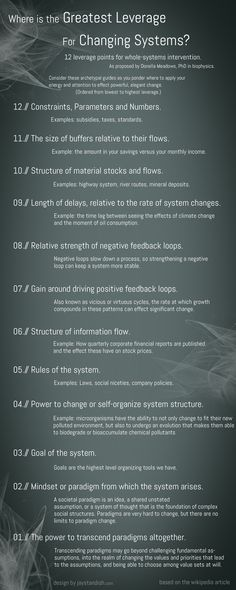 12 leverage points for whole-systems intervention