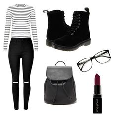 """""""Untitled #3"""" by dalma-pothorszki ❤ liked on Polyvore featuring New Look, Dr. Martens, Forever 21, ZeroUV and Smashbox"""