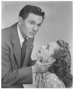 "John Garfield and Geraldine Fitzgerald in ""Nobody Lives Forever"""