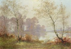 Albert-Gabriel Rigolot (1862-1932), Paysage avec Lac.