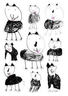 Jack drew his cat Art Print