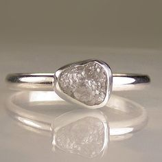 Rough Diamond Ring, unique engagement ring.