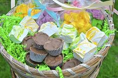 Homemade Easter Basket collection of goodies
