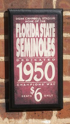 Florida State Seminoles Subway Scroll Art Print Bleed Garnet Gold