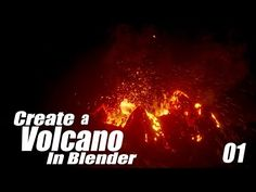 Create a Volcano Eruption in Blender - 01 : Terrain & Particles - YouTube