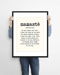 Large Namaste Poster  16x20 inches on A2. Inspiring by mercimerci
