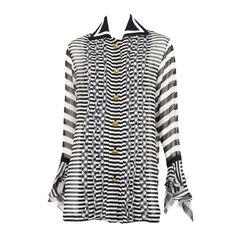 90's silk chiffon Versace blouse