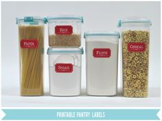 Silhouette Blog: FREE Shape of the Week... Printable Pantry Labels {color is customizable! check out the blog for details}