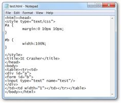 Easily Crash Any Version of Internet Explorer with Simple HTML
