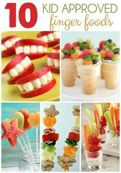 10 Kid Approved Finger Foods - Healthy kids snacks - YUM!
