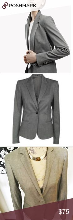 One day sale 🎉Theory one button  blazer Like new condition I never used it . Size 10 but good for 8. Like every theory Blazers very high quality. %52 wool %45 viscose %3 elastane Theory Jackets & Coats Blazers