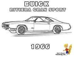 Buick Riviera Car Coloring Pages