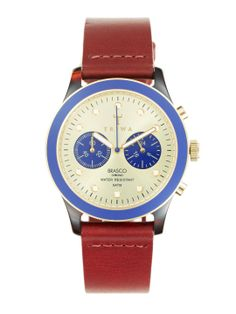 Men's Duke Gold & Brown Leather Chronograph Watch by Triwa at Gilt