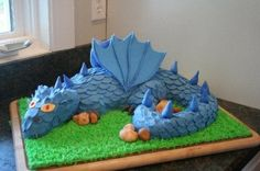 dragon cake By momma28 on CakeCentral.com