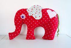 Valentine Elephant XL Animal Pillow Stuffed Toy Animal Farbenmix Euro. $32,00, via Etsy.