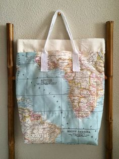 Bolsa Mapa Multibolsillos / Multipocket Map Tote Bag (diy)