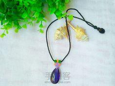 紫色水晶吊坠