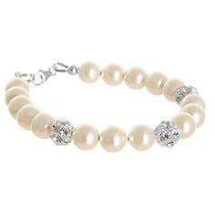 Hope bracelet - pearl and diamante bridal bracelet available from Lou Lou Belle Designs http://www.louloubelle.co.uk/bracelets_bridal.html