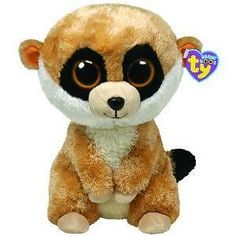 beanie boos | Big Rebel Meerkat Beanie Boo Jungle Safari Stuffed Animal by Ty 36952 ...