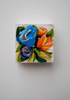 Sense  Original Miniature Acrylic Painting by KreativeKatherine, $35.00
