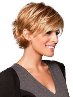 Short Haircuts For Fine Hair - With a Bang
