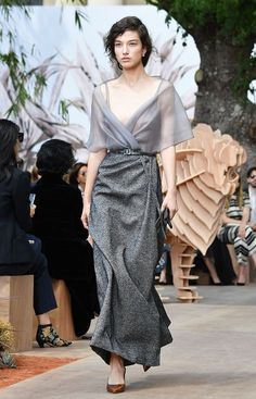 Christian Dior's Fall 2017 Couture show just walked in Paris, and the dresses and coats are as gorgeous as you'd expect. Here, see all the best looks.