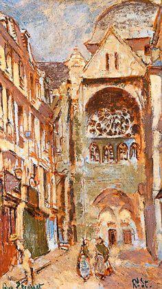 Walter Sickert  La rue Pecquet, Dieppe