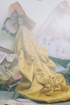 Karen Elson in Dior Couture for the April 2008 issue. Photo By Tim Walker