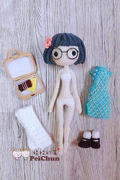 Cheongsam GirlAiAi done by pattern buyer @chu_peichun . Cute and lovely ❤️  #crochet #doll #china #cheongsam #旗袍 #娃娃