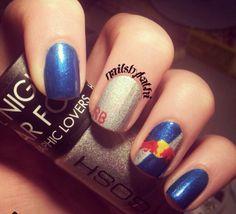 red bull nails by nailsbykathi on instagram