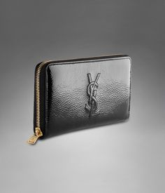 YSL wallet on Pinterest | Zip Wallet, Black Patent Leather and Wallets
