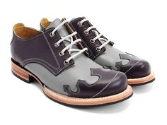 """Danielson"" from the Frontier family by Fluevog--have these in black/white with red laces; would love this colourway"