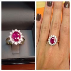 Ruby Ring - http://www.thediamondstore.co.uk/ruby-135ct-and-diamond-050ct-18k-white-gold-ring-p18063c256.cfm