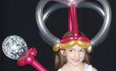 Queen of balloons. #princess balloon hat
