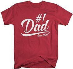 0fcfed6b Shirts By Sarah Men's #1 Dad T-Shirt Since 2015 Modern Father's Day Shirts