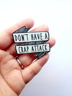 Tina Belcher Dont have a crap attack brooch. It measures 1.75 in x 1.75 in total (4.445 cm x 4.445 cm)    Get the Tina Belcher earrings here: