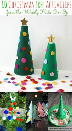 Christmas Crafts : 10 Christmas Tree Activities – some fun ideas for kids from the Kids Weekly Co-Op Advent For Kids, Advent Calendars For Kids, Christmas Crafts For Kids To Make, Diy Advent Calendar, Christmas Activities For Kids, Preschool Christmas, Christmas Tree Themes, Craft Activities For Kids, Kids Christmas