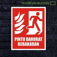 WSKPC078 Sticker K3 Safety Sign Warning Sign Pintu