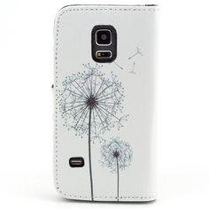 Galaxy S5 Mini Case - Löwenzahn Muster PU Leder Flip Cover Brieftasche Case mit Standfunktion Kartenfächer Tasche für Samsung Galaxy S5 Mini SM-G800 Schutzhülle Etui Leder Handy Hülle: Amazon.de: Elektronik