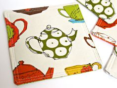 Great fabric for coasters... or maybe mug rugs.