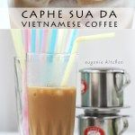 Iced Vietnamese coffee is very refreshing in August's heat. Plus it calls for only coffee and sweetened condensed milk.