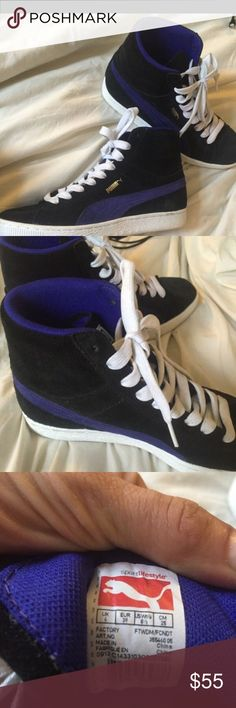 Puma high top sneakers for sale like new... Puma high top sneakers for a14c72ff74523