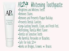 Best toothpaste ever! Message me at kgrego.nuskin@gmail.com to learn more and get yours!! Join my FB group: Nu You with Kristina