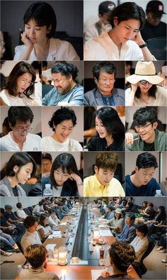 """Song Hye Kyo and Park Bo Gum's upcoming drama has unveiled photos from its very first table read! The new tvN drama """"Encounter"""" (formerly known as """"Boyfriend"""") Song Hye Kyo, Lee Je Hoon, Drama News, Moonlight Drawn By Clouds, Park Bo Gum, Kim Tae Hee, Living Under A Rock, Ex Wives, Ji Chang Wook"""