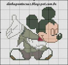 Die 113 Besten Bilder Von Mickey Mouse Cross Stitches Crosses Und