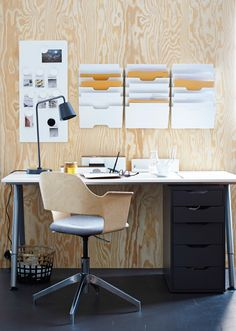 Setting up a good office space is more than just about organization.  A stylish and comfy chair like the FJALLBERGET will make it feel complete.