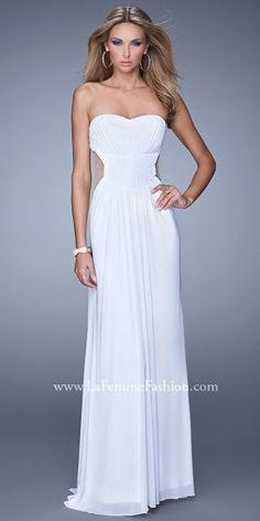 Strapless Sheer Inset Prom Dresses by La Femme-  #edressme